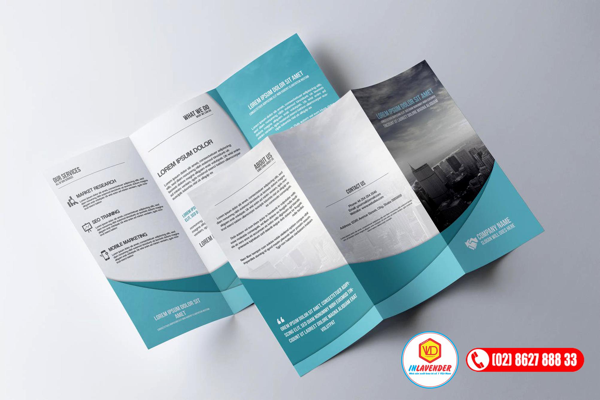 sản xuất tờ bướm - in brochure
