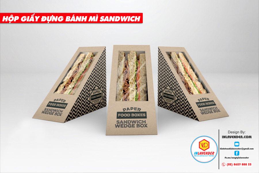 Hộp giấy túi giấy đựng bánh mì sanwich