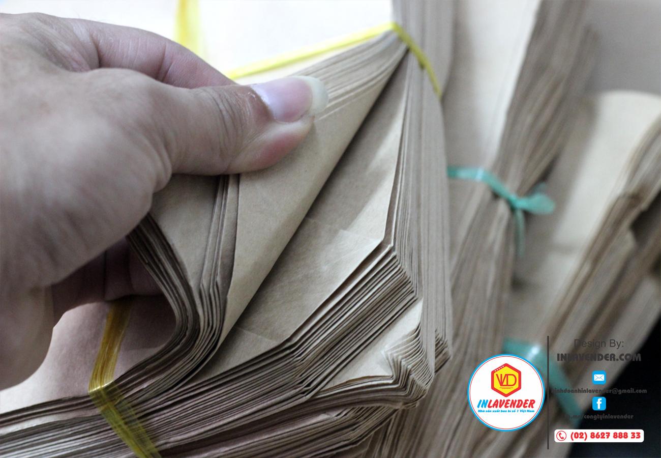 Túi giấy xi măng gói hàng loại dày