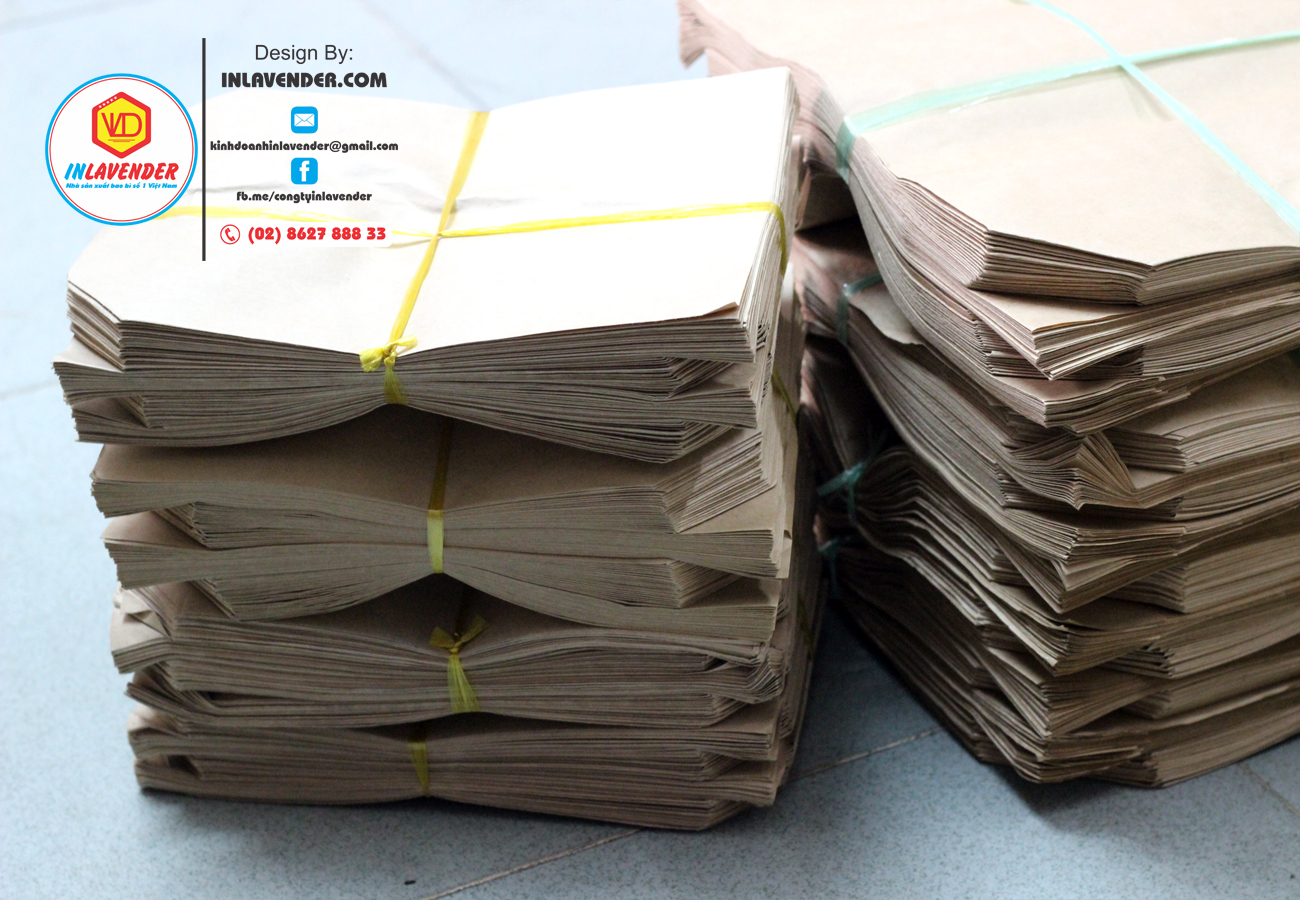 Túi giấy kraft loại dày chuyên gói hàng